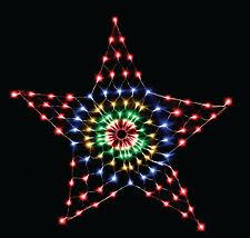 MULTICOLOUR Low Voltage Star Net 130 LED Outdoor Christmas Light Decoration 1.3m