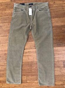 NWT Banana Republic Tan Cotton Corduroy Jeans Flat Front see measurements