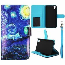 Starry Artistic For HTC Desire 626 626s Flip Wallet Leather Case Cover Glob  Cov