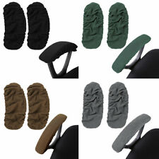 1Pair Office Chair Arm Covers Pads Elastic Armrest Slipcover Removable Protector