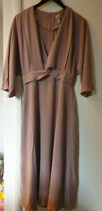 Asos Design Batwing Twist Dress Fron UK Size 10 VR261 07