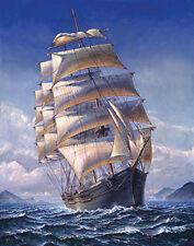 John H. Stephens: Sailing the WR marcos de cuña-imagen lienzo windjammer velero