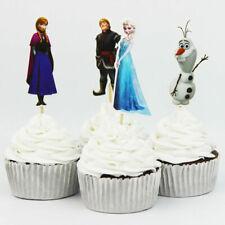 Frozen Tema Artículos para Fiestas Decoración 24 Piezas Cup Cake Decoración