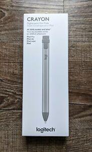 Logitech Crayon for Apple iPad 6th 7th 8th Generation Pencil Stylus (Gray) *New*