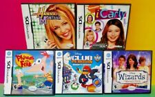 Disney Game Lot Ferb Wizards Penguin Hannah i Carly Nintendo DS DS Lite 3DS 2DS