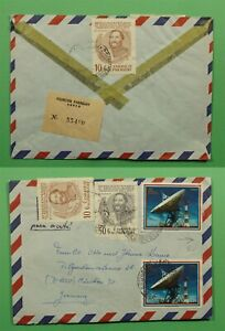 DR WHO 197? PARAGUAY ASUNCION REGISTERED AIRMAIL TO GERMANY C238643