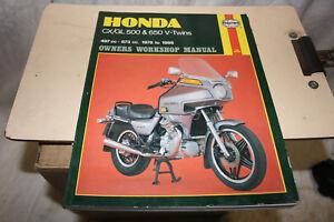 Honda GX/GL 500 and 650 twins Haynes workshop manual