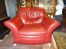 Leather Art Deco Style Armchairs