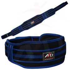"""ARD CHAMPS™ Neoprene Weight Lifting Belt Back Support Gym Belts 5"""" Wide Blue M"""
