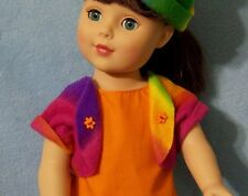 "Girl Doll Rainbow Coat Clothes for 18"" Battat Gotz Madame Alexander Buy American"