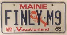 Maine vanity FINALLY BMW M9 license plate Bayerische Motoren Werke Mercedes Benz