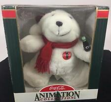 Coca Cola Coke Musical Skating Teddy Polar Bear Batteries Inc VIDEO Christmas 98