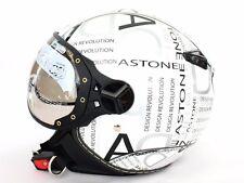 Pilot style demi-jet DOT Helmet for Motorcycle scooter moto White/Black(ASTONE)