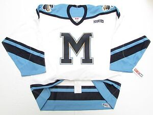 ST. MIKE'S MAJORS OHL AUTHENTIC WHITE PRO CCM HOCKEY JERSEY SIZE 54
