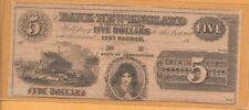 USA STATE OF CONNECTICUT THE BANK OF NEW ENGLAND18XX EF 5$ VERY RARE!!!