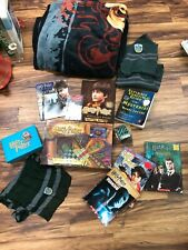 Harry Potter Collectibles! HUGE LOT! Book, game, scarves, blankets and more!