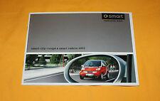 Smart City Coupe Cabrio 2003 Prospekt Brochure Depliant Catalog Folder Prospetto