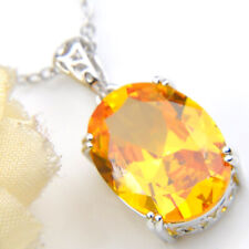 """Awesome 50% Off Shiny Golden Citrine Gems Antique Silver Necklace Pendants 2"""""""