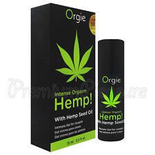 Orgie Intense Orgasm Hemp! lube with hemp seed oil for couples Stimulating 15ml