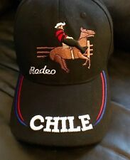Mens Chile Stripe country rodeo horse black baseball hat One Size