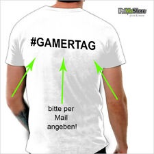 + GAMERTAG auf Rücken zu T-Shirt Xbox Playstation 360 PC Game #uniwears