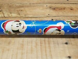 1 Large Roll Mickey Mouse Christmas Gift Wrapping Paper 70 sq ft