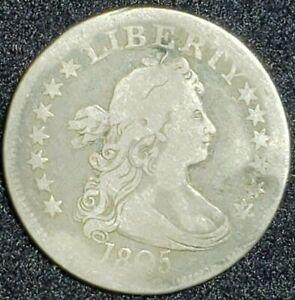 1805 Silver Draped Bust Quarter 25¢ Coin