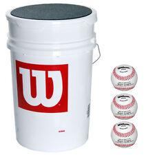 Wilson 3-Dozen Bucket Of X-Outs Baseballs 36 Ball Pack W/Bucket