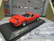 LAMBORGHINI Miura Jota V12 Supersportwagen rot red 1970 RAR Minichamps 1:43