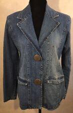 Paris Blues Denim Blazer Size Large