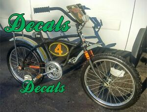 Vintage 1970's Huffy Thunder Road 4 Bike AMF BMX bicycle, DECALS ONLY