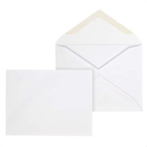 "Mead A2 Invitation Envelope, Gummed Seal, 4-3/8"" x 5-3/4"", White, 100/Box CO198"
