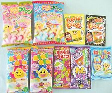 NEW 9 PCS SET Kracie Meiji Japanese Candy Kit popin cookin Nyoki Gummy Japan