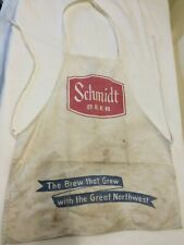 Vintage Schmidt Beer Bar Concession Full Apron w pockets