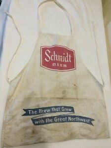 Vintage Schmidt Beer Bar Concession Full Apron w pockets