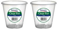2x Stewart Garden Clear Plastic Orchid Plant Pot Planter - 13cm