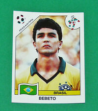 N°206 BEBETO BRESIL BRASIL PANINI COUPE MONDE FOOTBALL ITALIA 90 1990 WC WM