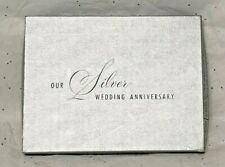 Vintage NEW 25th Anniversary Guest & Gift Book CR Gibson Metallic Silver G8622-2