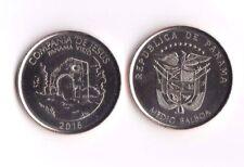 Medio 1/2 0.5 Balboa Panama 2016. Compañía de Jesús SC. Moneda Sin Circular.