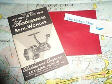 VINTAGE SHAKESPEARE SPIN-WONDER PAMPHLET OLD SHAKESPEARE FISHING REEL SCHEMATIC