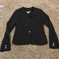 banana republic Womens Size 2 Black Polyester One Button Blazer A35