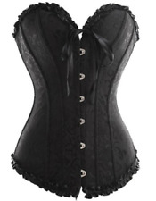 Camellias Sweetheart Overbust Corset Bustier Black Size XL 6376
