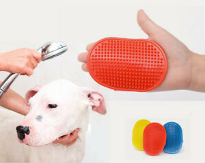 Pet Grooming Glove shower washing Brush Dog Cat Dirt Hair Fur Removal Deshedding