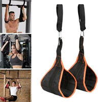 2PCS Fitness AB Sling Straps Hanging Belt Pull up Muscle Training Exercise Gear