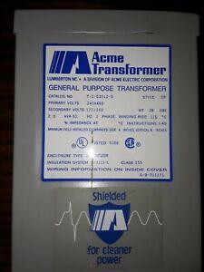 ACME T-2-53012-S General Purpose 2KVA Single Phase Transformer New Open Box