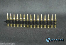 M2 50 Cal Metal Shells Bullet Chain 15 Pieces 1/6th Scale by Zy Toys