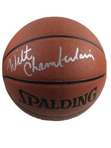 Wilt Chamberlain Autographed Signed Spalding NBA Basketball PSA/DNA LOA