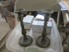 """Pair of Vintage Brass Candlesticks Candle Holders 10"""" High"""