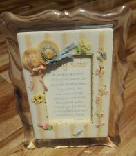 """""""My Sister"""" Picture Frame ~ Musical ~""""You Light Up My Life""""~ 3"""" x 4 1/2"""" opening"""