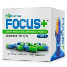 Brain Supplement FOCUS+ by Excelerol - Dr. Recommended Brain Pill - Supports ...